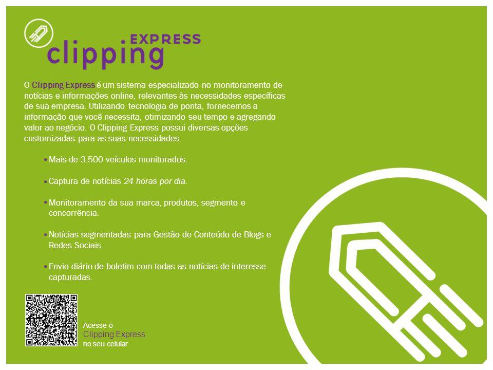 O Clipping Express é um sistema especializado no monitoramento de notícias e informações online, relevantes às necessidades específicas de sua empresa