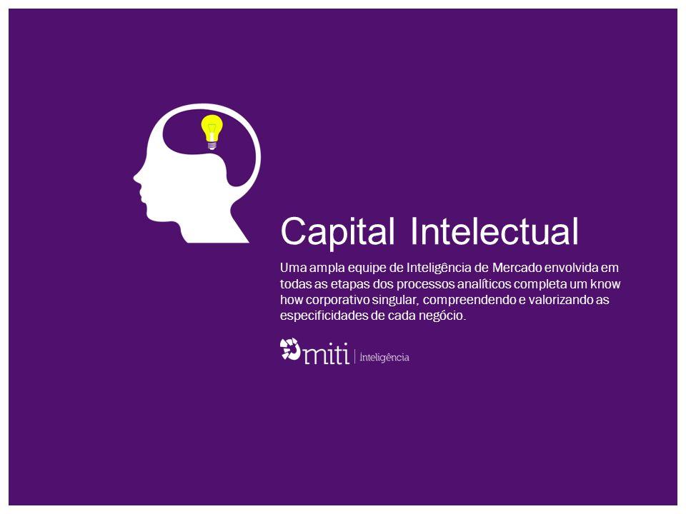 Inteligência para negócios de sucesso A MITI Inteligência concentra a segurança de sua base tecnológica com a eficiência de uma ampla visão sistêmica voltada para soluções em inteligência de mercado.
