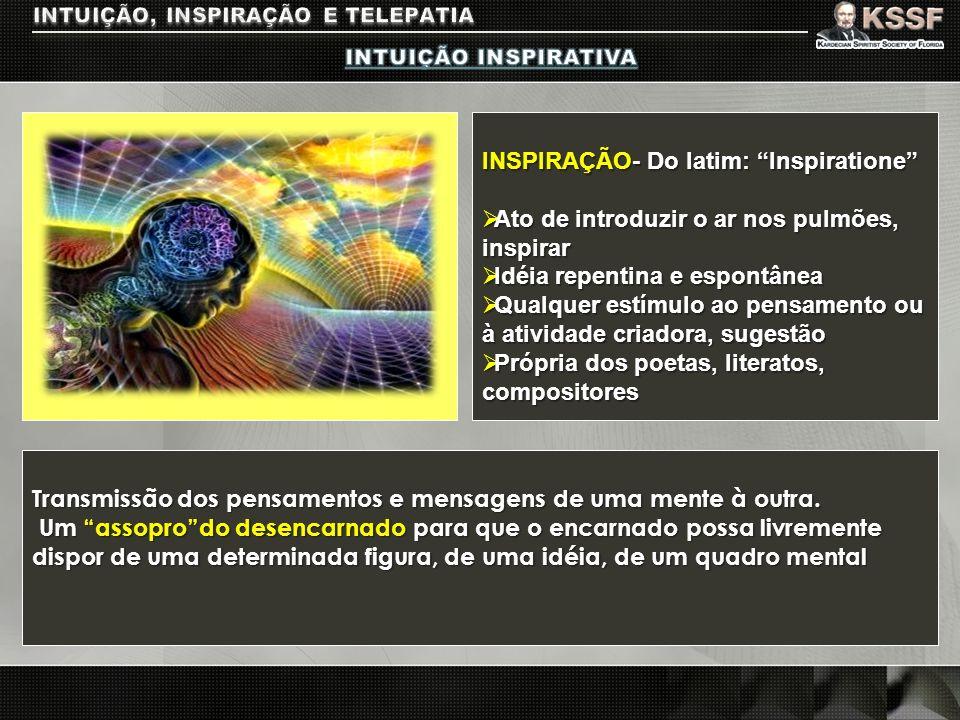 INSPIRAÇÃO- Do latim: Inspiratione Ato de introduzir o ar nos pulmões, inspirar Ato de introduzir o ar nos pulmões, inspirar Idéia repentina e espontâ