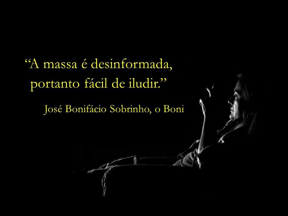O perfil do telespectador brasileiro é triste. José Bonifácio Sobrinho, o Boni (pai do Boninho, diretor do BBB)