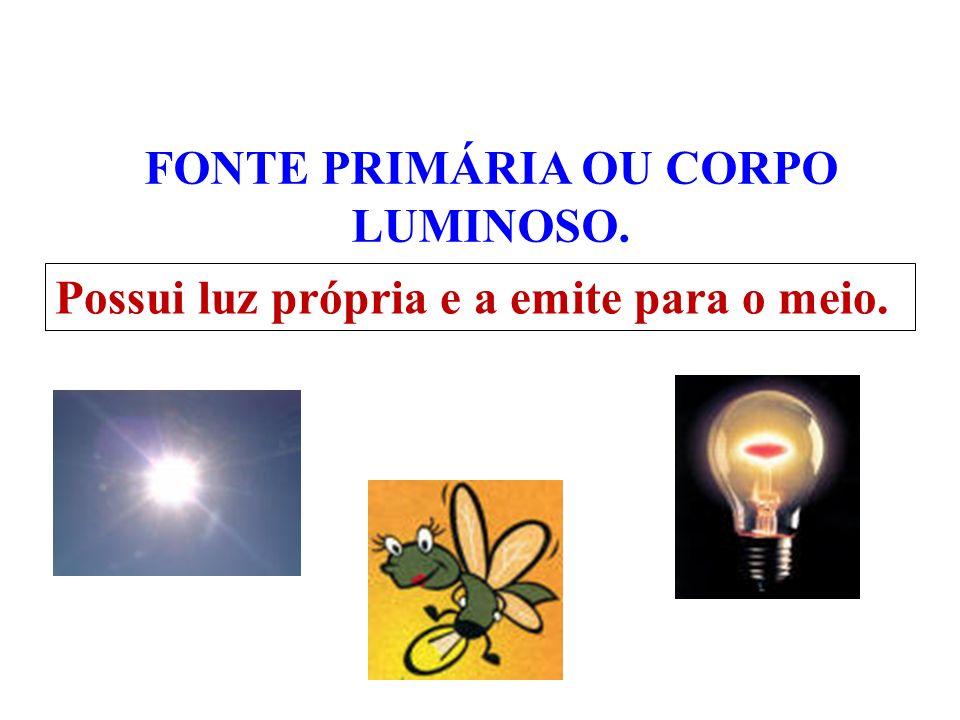 Fontes de luz São considerados todos os corpos dos quais podemos receber luz,ou seja, que podem ser visíveis ao nosso olhar. OBS: As fontes de luz pod