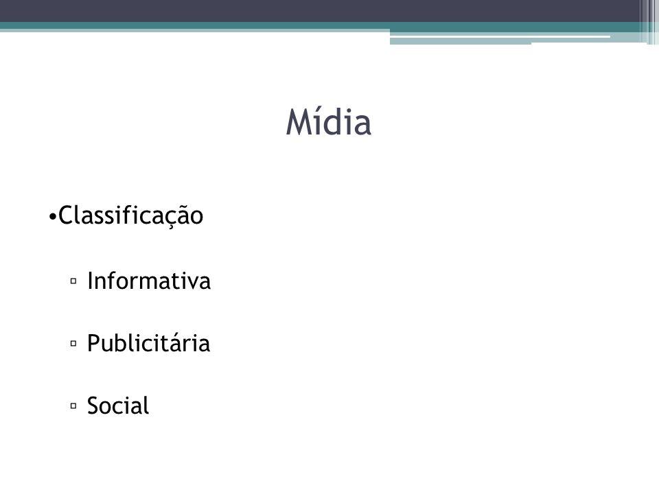 Mídia Classificação Informativa Publicitária Social