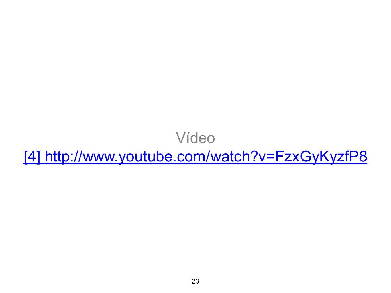 23 Vídeo [4] http://www.youtube.com/watch?v=FzxGyKyzfP8