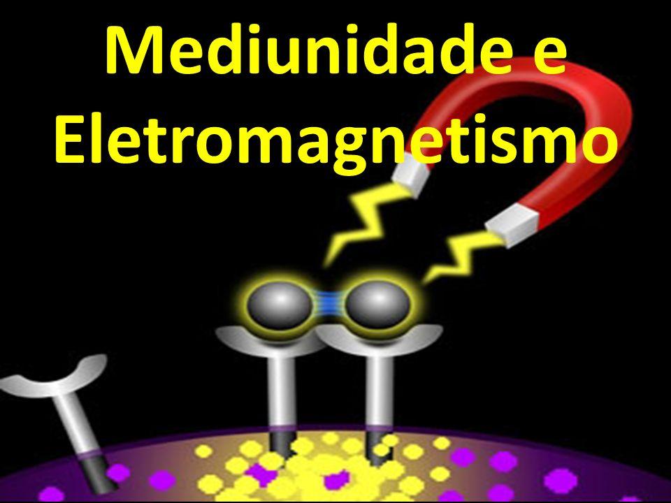 Ferromagnetismo e Mediunidade Perceberemos nas mentes ajustadas aos imperativos da experiência humana, mesmo naquelas de sensibilidade mediúnica normal, criaturas em que os «spins» ou efeitos magnéticos da atividade espiritual se evidenciam necessariamente harmonizados, presidindo a formação dos «domínios» ou ímãs diminutos do mundo íntimo em processo de integração, através do qual o campo magnético se mostra entrosado às emoções comuns