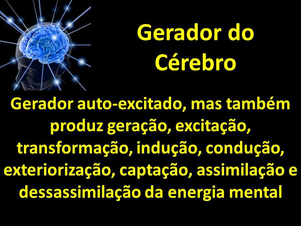 Gerador do Cérebro Gerador auto-excitado, mas também produz geração, excitação, transformação, indução, condução, exteriorização, captação, assimilaçã