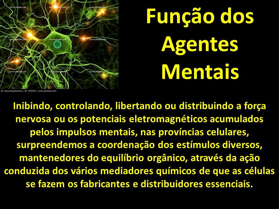 Função dos Agentes Mentais Inibindo, controlando, libertando ou distribuindo a força nervosa ou os potenciais eletromagnéticos acumulados pelos impuls