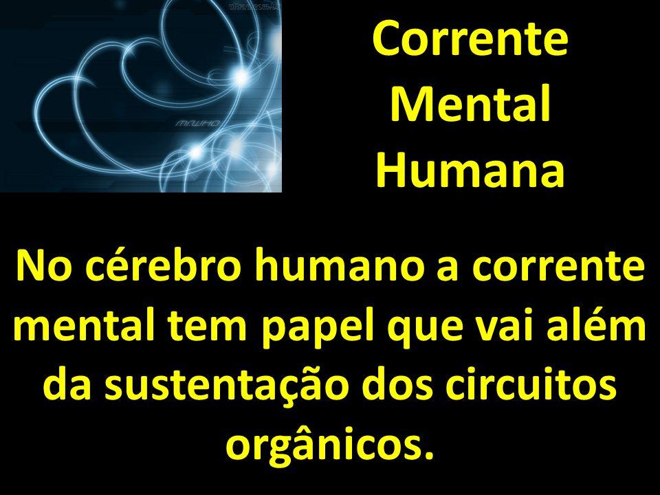 Corrente Mental Humana No cérebro humano a corrente mental tem papel que vai além da sustentação dos circuitos orgânicos.