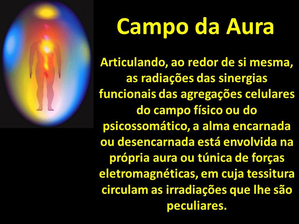 Campo da Aura Articulando, ao redor de si mesma, as radiações das sinergias funcionais das agregações celulares do campo físico ou do psicossomático,