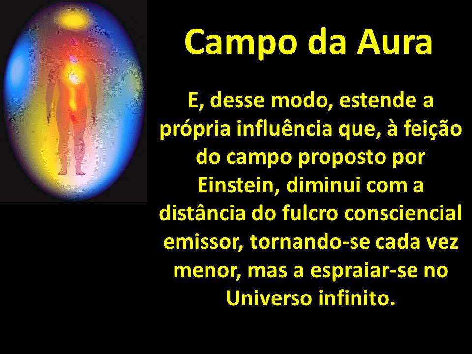 Campo da Aura E, desse modo, estende a própria influência que, à feição do campo proposto por Einstein, diminui com a distância do fulcro consciencial