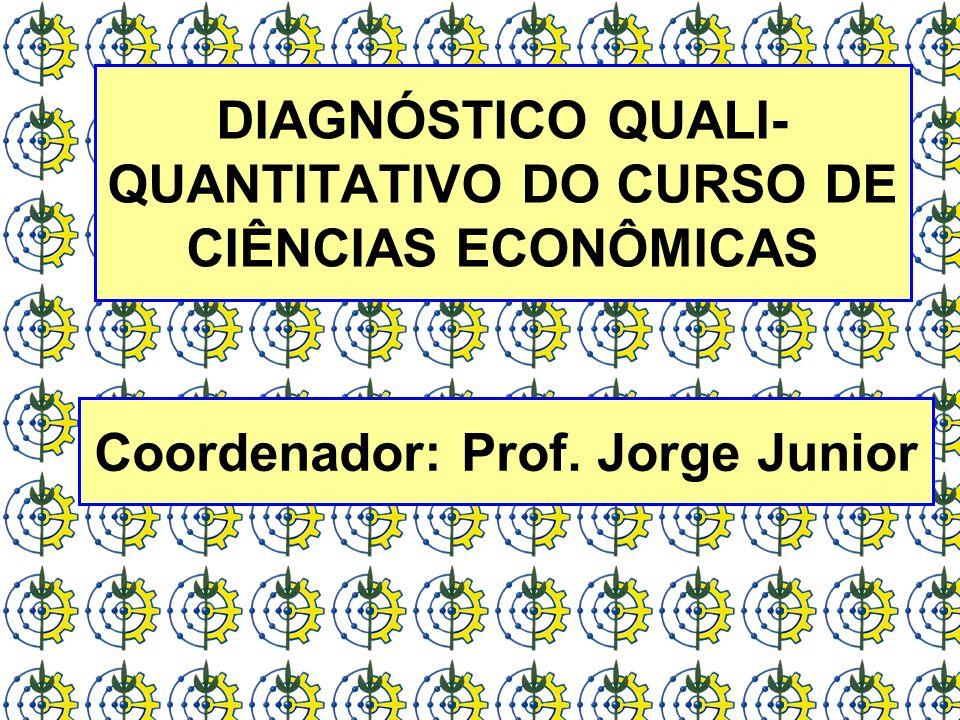 DIAGNÓSTICO QUALI- QUANTITATIVO DO CURSO DE CIÊNCIAS ECONÔMICAS Coordenador: Prof. Jorge Junior