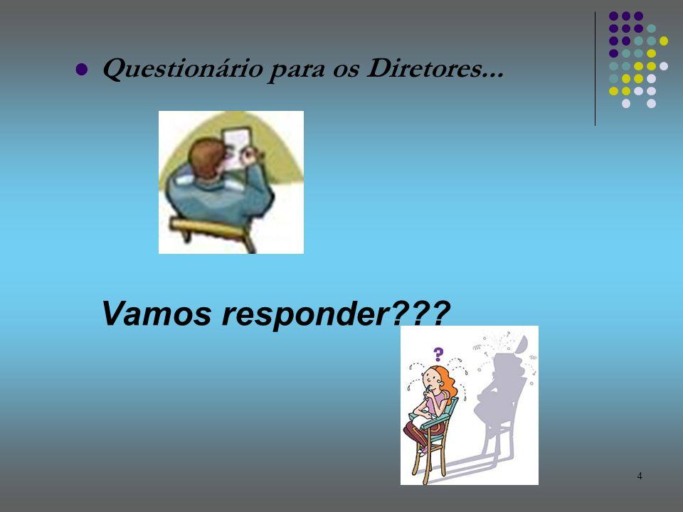 4 Questionário para os Diretores... Vamos responder???