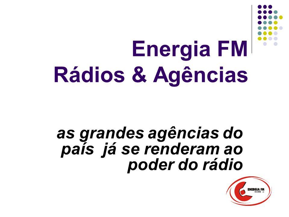 Energia FM Rádios & Agências as grandes agências do país já se renderam ao poder do rádio