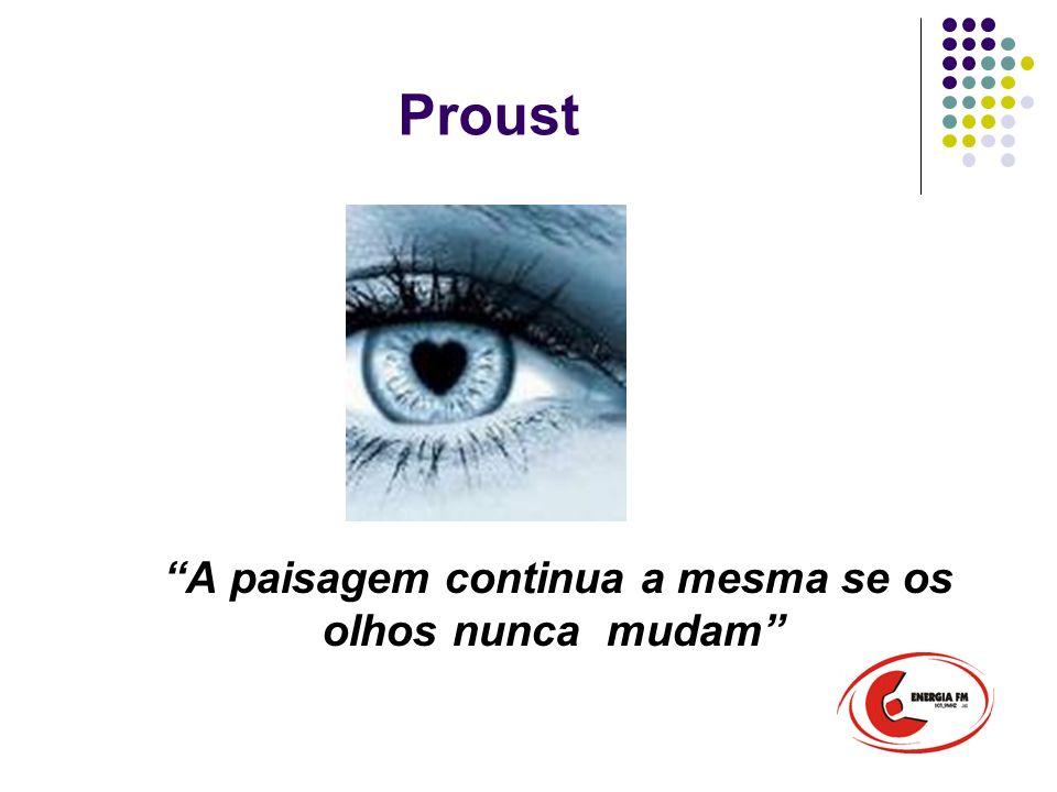 Proust A paisagem continua a mesma se os olhos nunca mudam