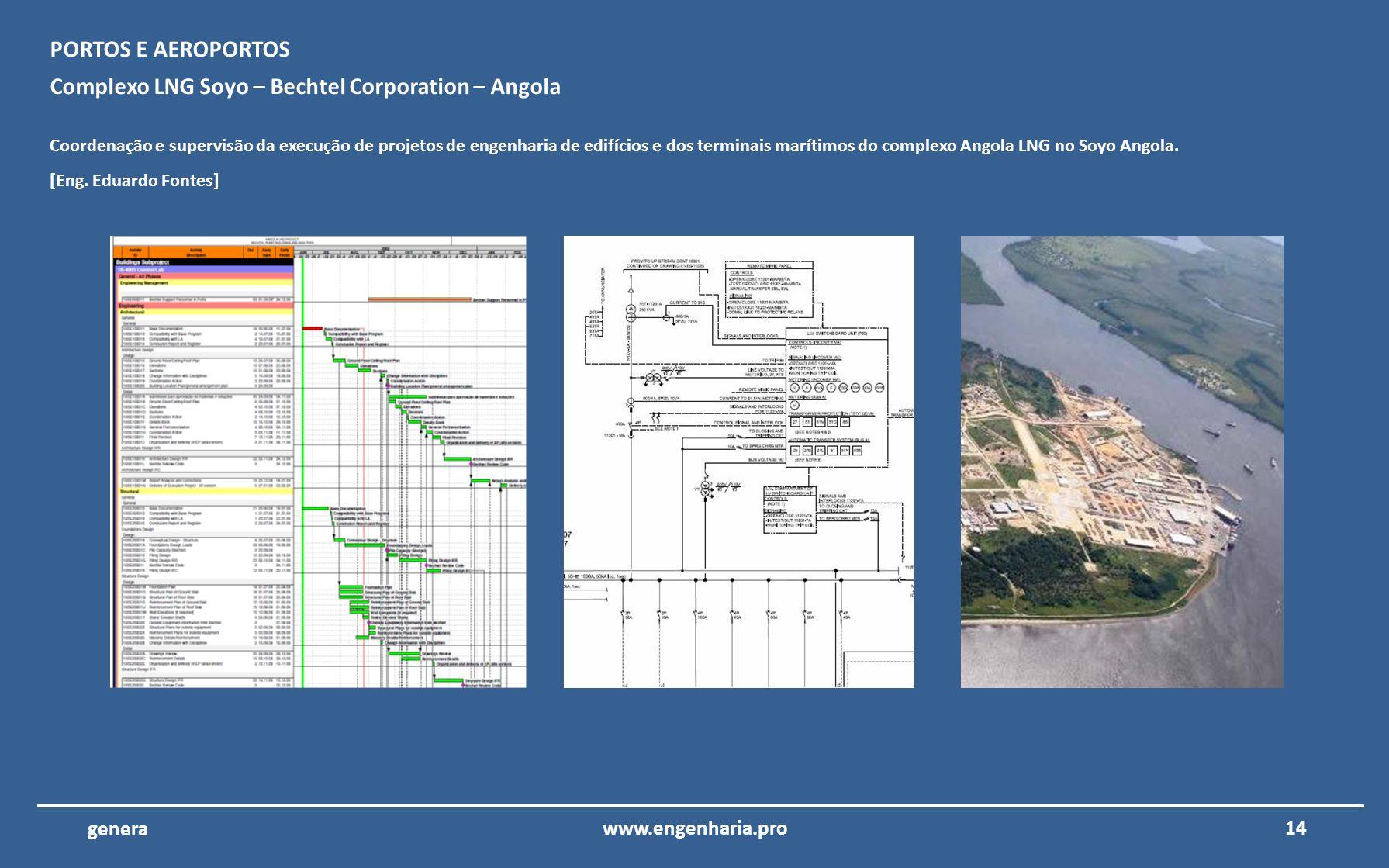 13www.engenharia.pro genera Metro do Porto – Porto – Portugal Coordenação e supervisão da execução de projetos de engenharia das inserções urbanas e d