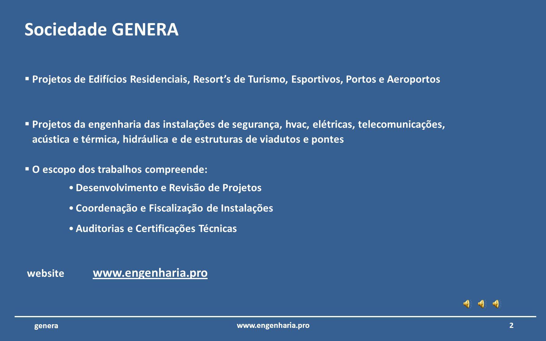 GENERA LTDA - Projetos de Engenharia garantia de qualidade e eficácia www.engenharia.pro