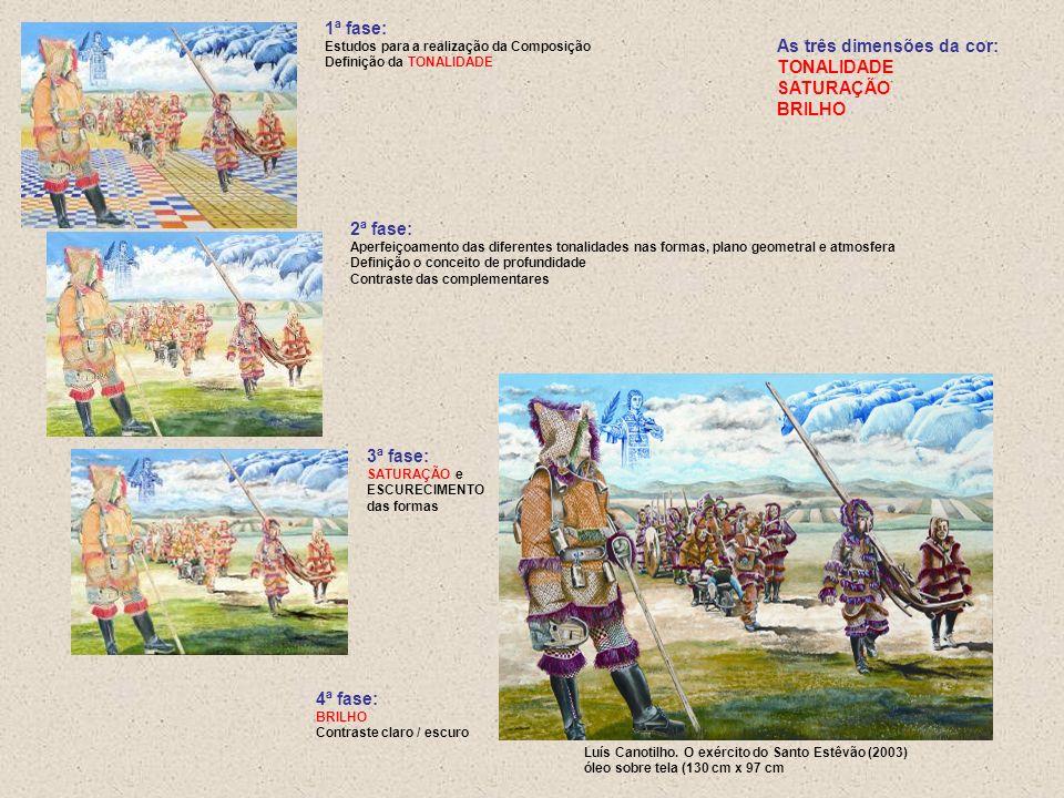 Luís Canotilho. O exército do Santo Estêvão (2003) óleo sobre tela (130 cm x 97 cm 1ª fase: Estudos para a realização da Composição Definição da TONAL