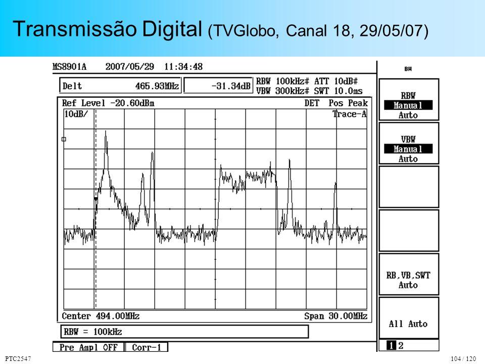 PTC2547104 / 120 Transmissão Digital (TVGlobo, Canal 18, 29/05/07)