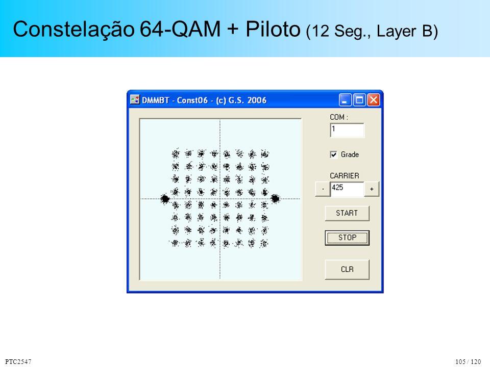 PTC2547105 / 120 Constelação 64-QAM + Piloto (12 Seg., Layer B)