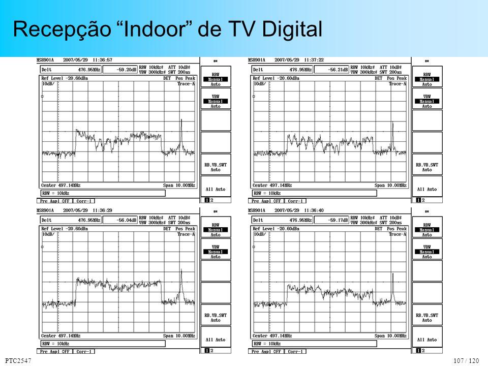 PTC2547107 / 120 Recepção Indoor de TV Digital