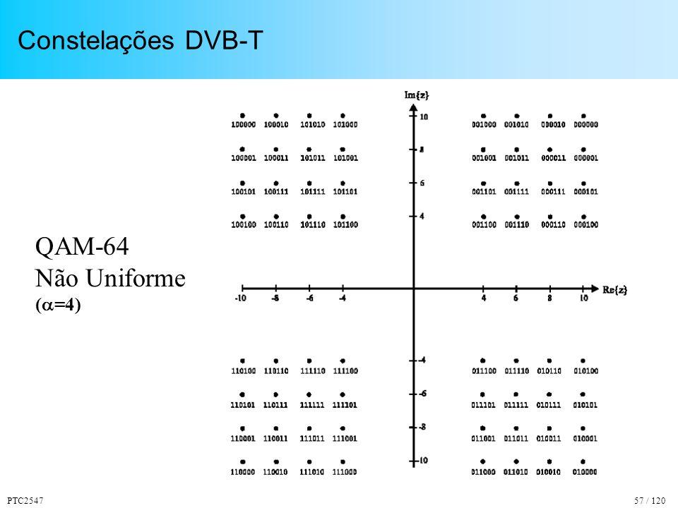 PTC254757 / 120 Constelações DVB-T QAM-64 Não Uniforme ( =4)