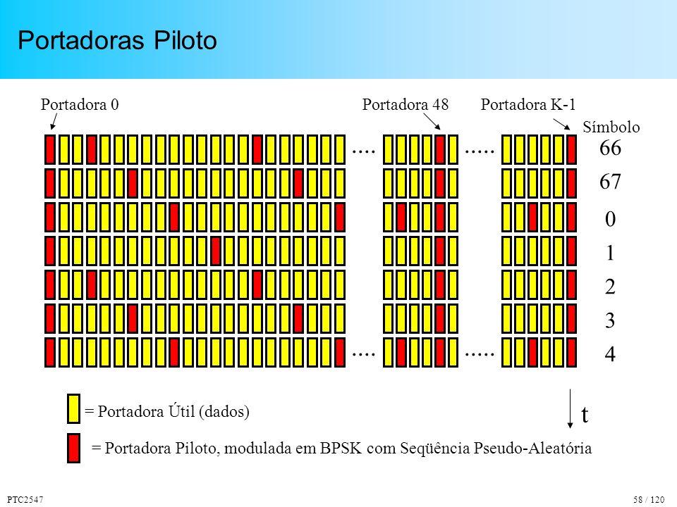 PTC254758 / 120 Portadoras Piloto
