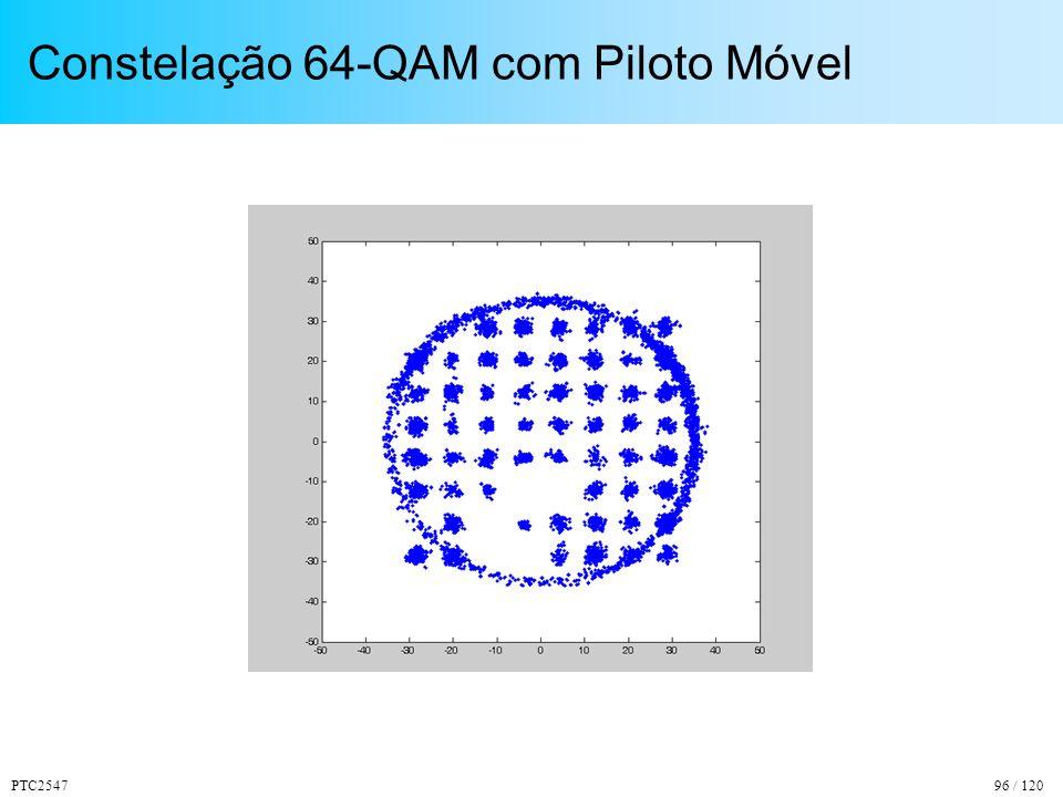 PTC254796 / 120 Constelação 64-QAM com Piloto Móvel