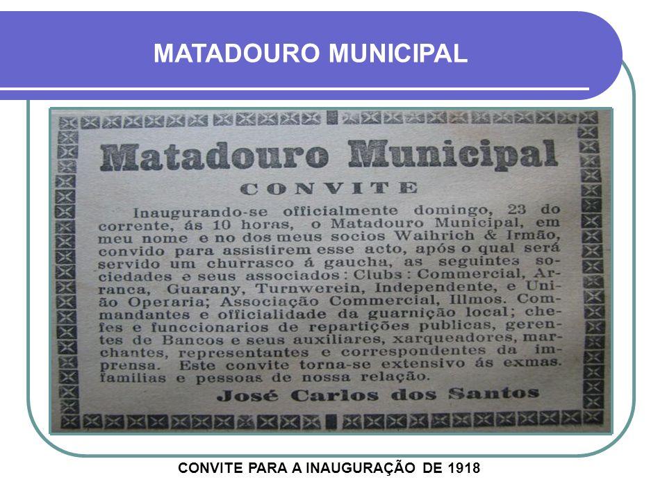 HOJE DESATIVADO NA DÉCADA DE 1950