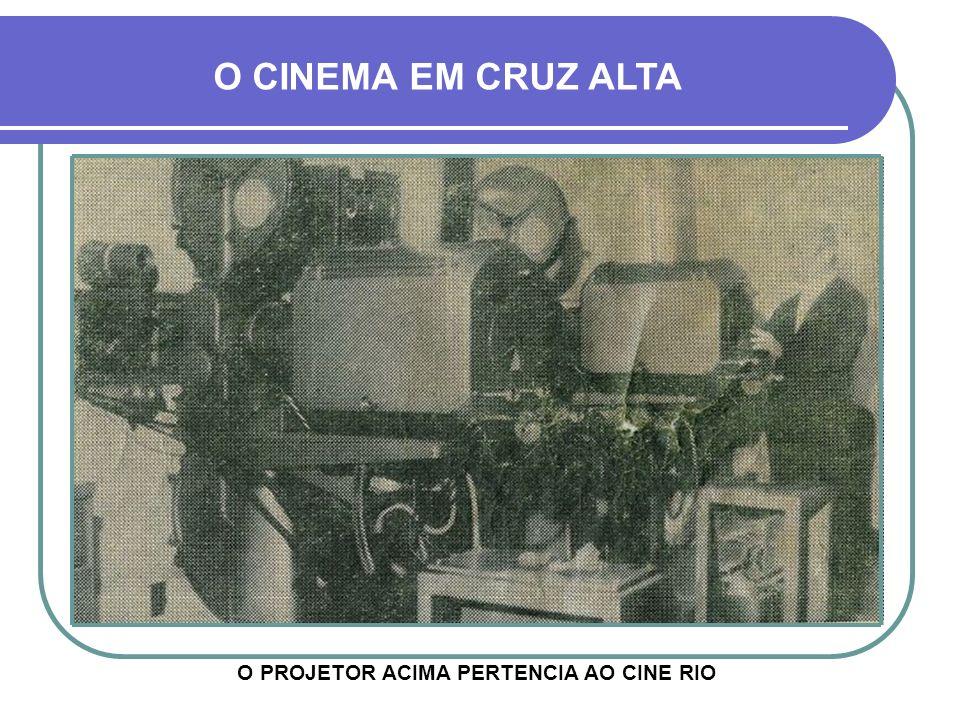 O CINEMA EM CRUZ ALTA DEVIDO AO SUCESSO CRESCENTE, EM 1952, O JÁ ENTÃO CHAMADO CINE IDEAL, SOB A RESPONSABILIDADE DA EMPRESA CINEMATOGRÁFICA ESPELLET,