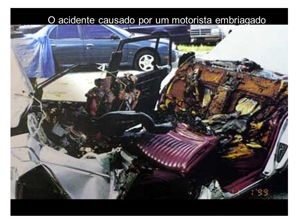 O acidente causado por um motorista embriagado
