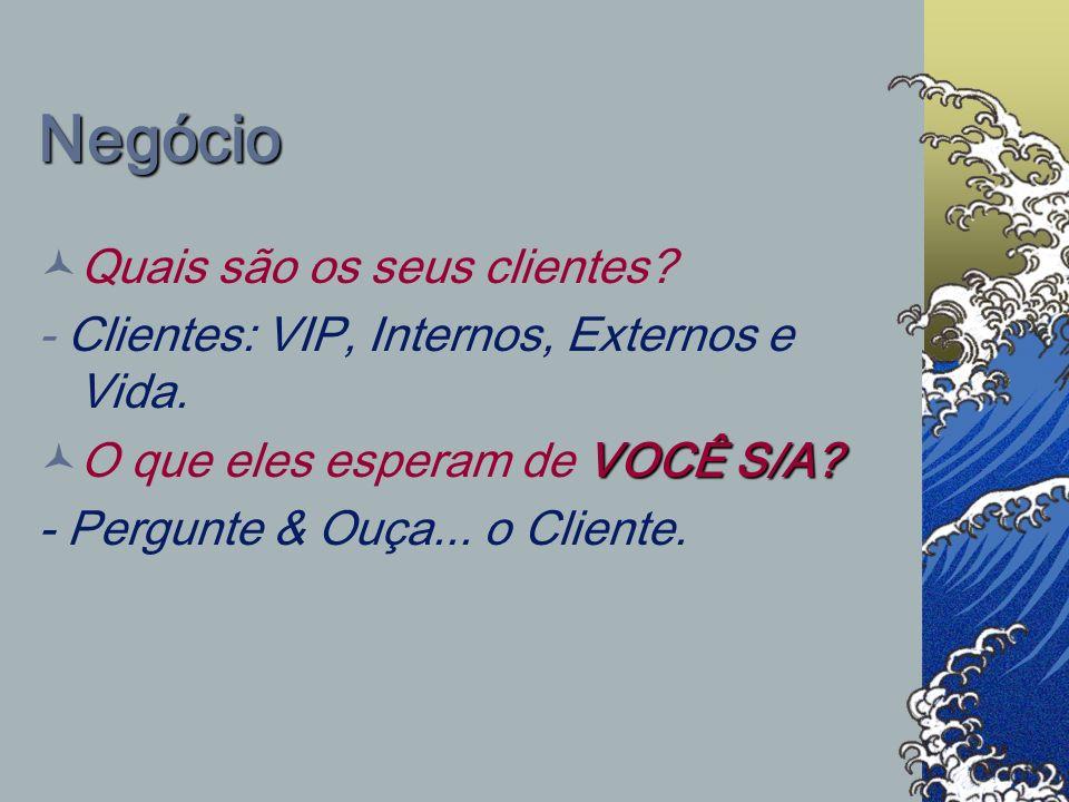 Negócio Conceito: É o entendimento do principal benefício esperado pelo seu cliente.