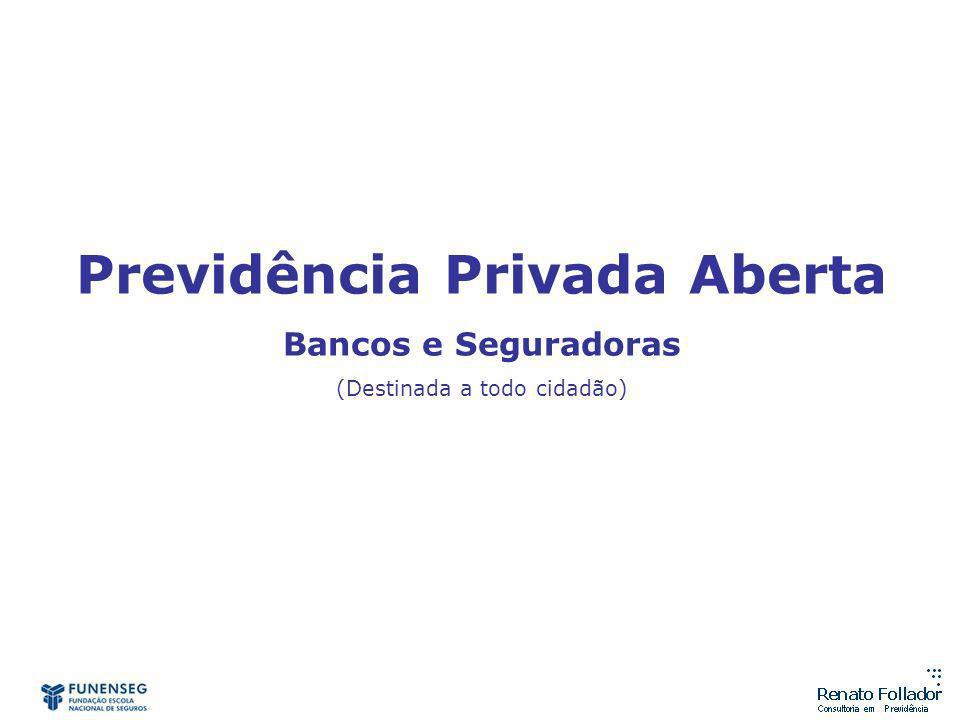 Previdência Privada Aberta Bancos e Seguradoras (Destinada a todo cidadão)