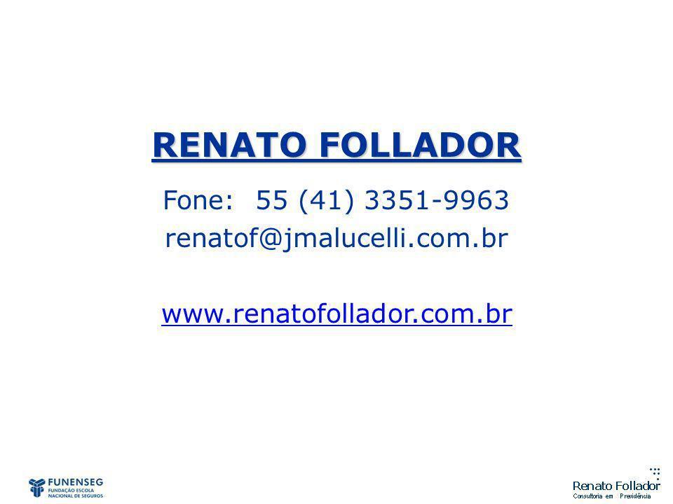 RENATO FOLLADOR Fone: 55 (41) 3351-9963 renatof@jmalucelli.com.br www.renatofollador.com.br