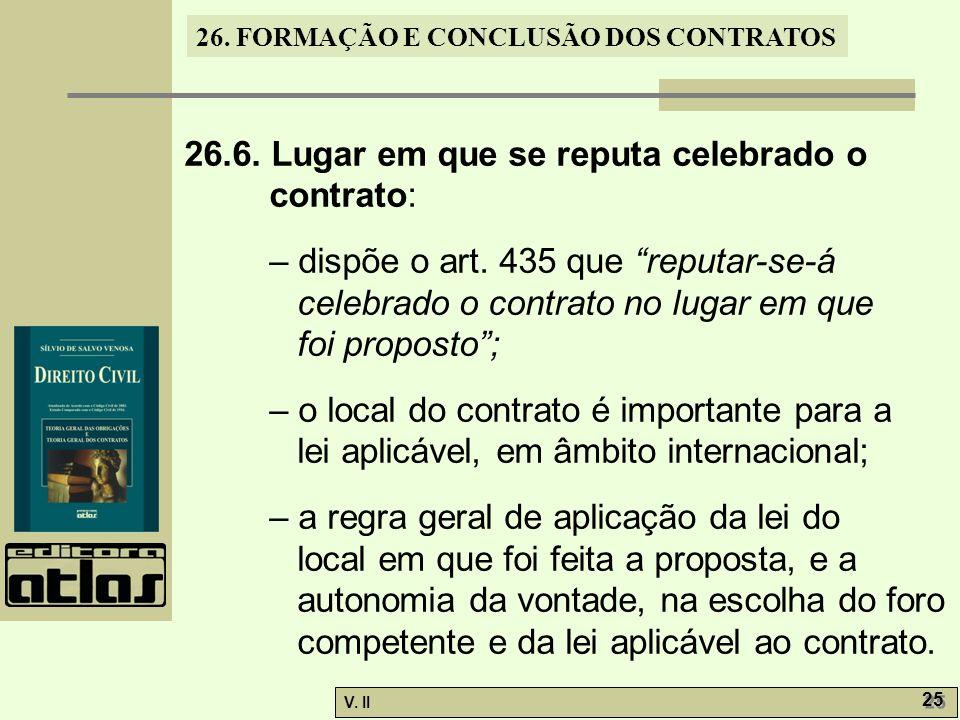 26.FORMAÇÃO E CONCLUSÃO DOS CONTRATOS V. II 25 26.6.