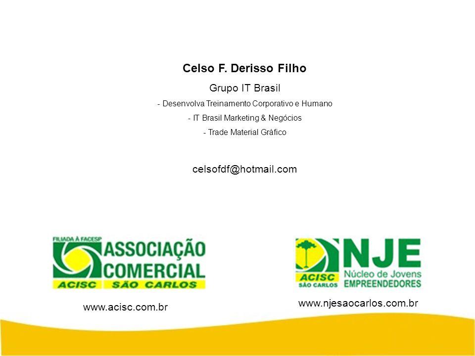Celso F. Derisso Filho Grupo IT Brasil - Desenvolva Treinamento Corporativo e Humano - IT Brasil Marketing & Negócios - Trade Material Gráfico celsofd