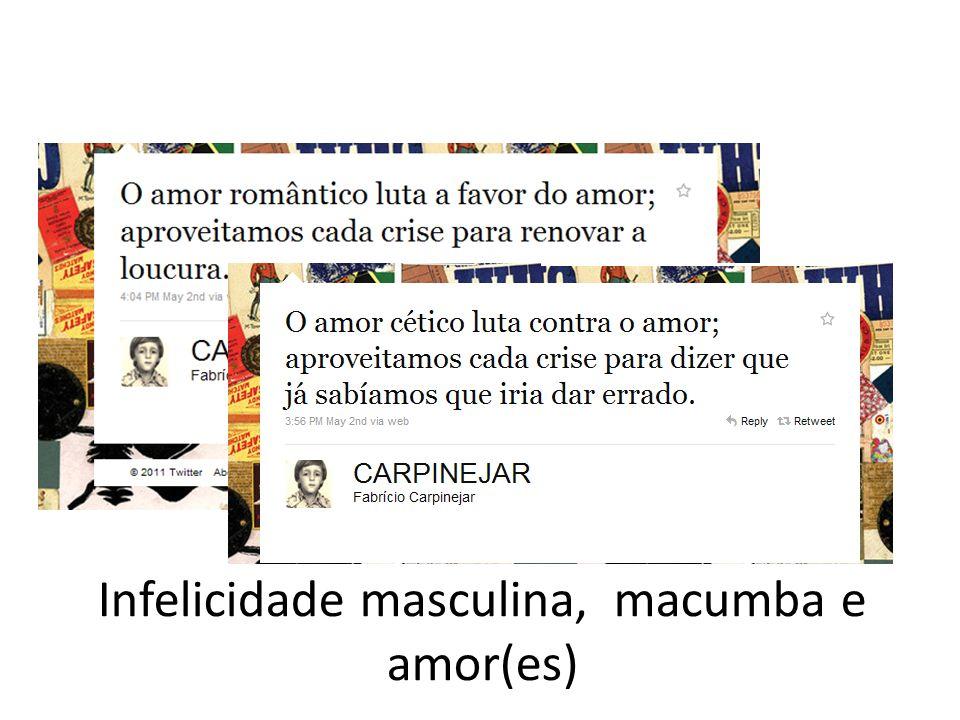 Infelicidade masculina, macumba e amor(es)