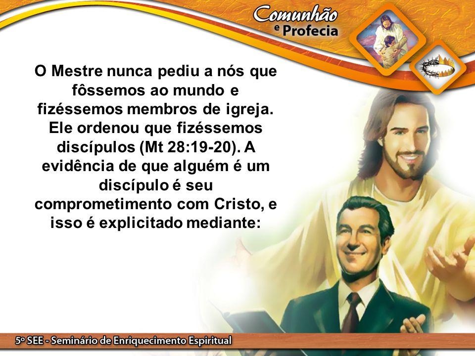 O Mestre nunca pediu a nós que fôssemos ao mundo e fizéssemos membros de igreja. Ele ordenou que fizéssemos discípulos (Mt 28:19-20). A evidência de q
