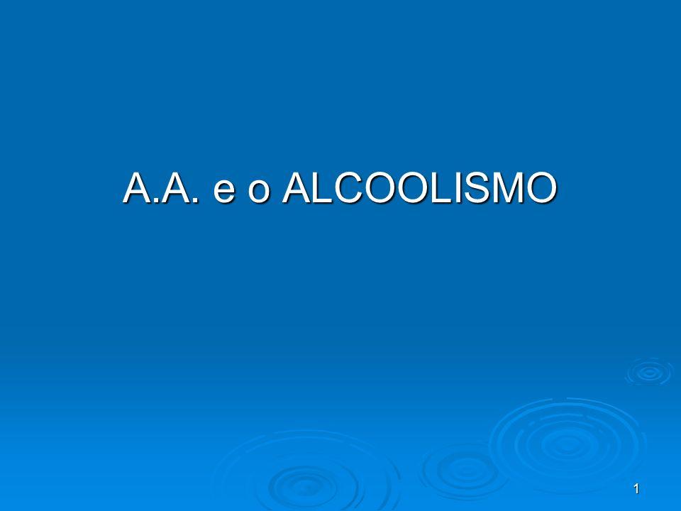 1 A.A. e o ALCOOLISMO