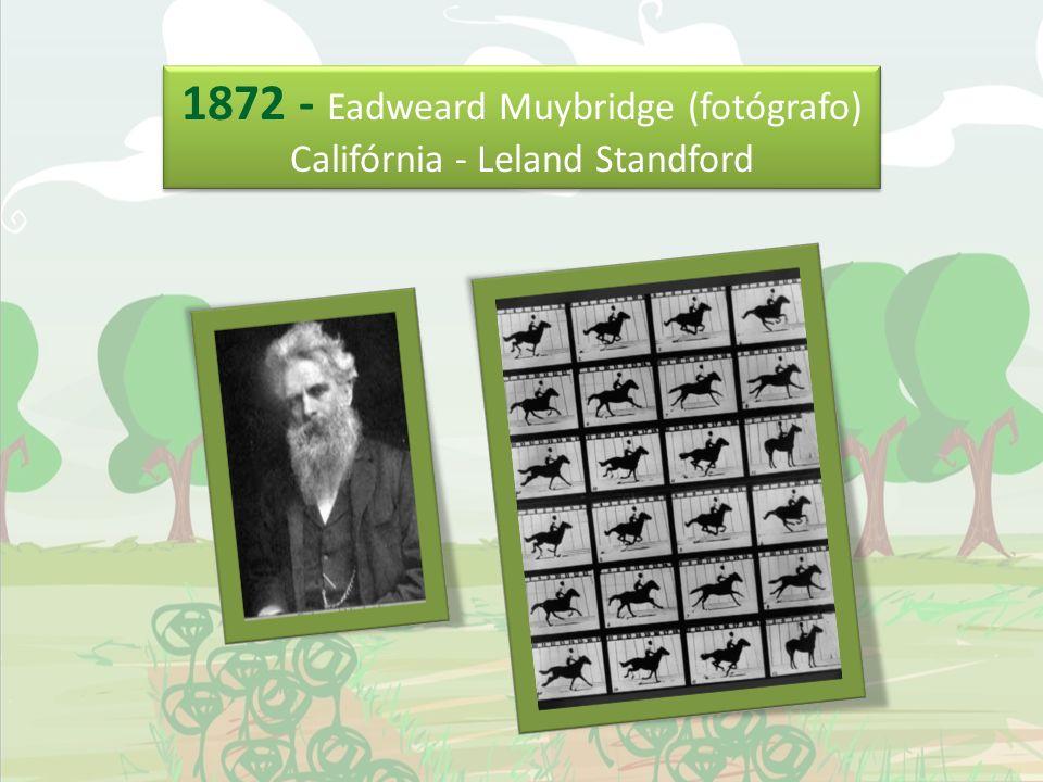 1872 - Eadweard Muybridge (fotógrafo) Califórnia - Leland Standford 1872 - Eadweard Muybridge (fotógrafo) Califórnia - Leland Standford