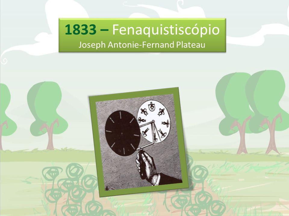 1833 – Fenaquistiscópio Joseph Antonie-Fernand Plateau 1833 – Fenaquistiscópio Joseph Antonie-Fernand Plateau