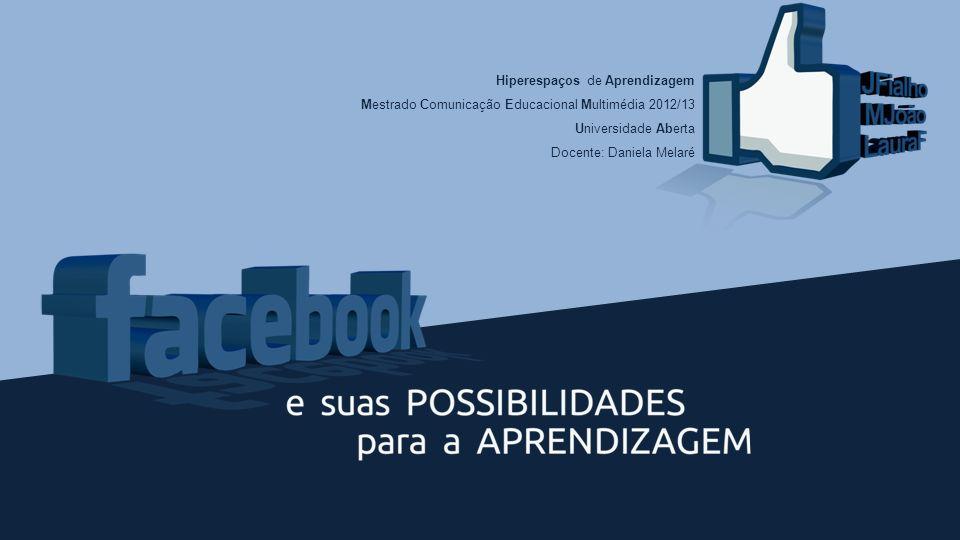 Hiperespaços de Aprendizagem Mestrado Comunicação Educacional Multimédia 2012/13 Universidade Aberta Docente: Daniela Melaré