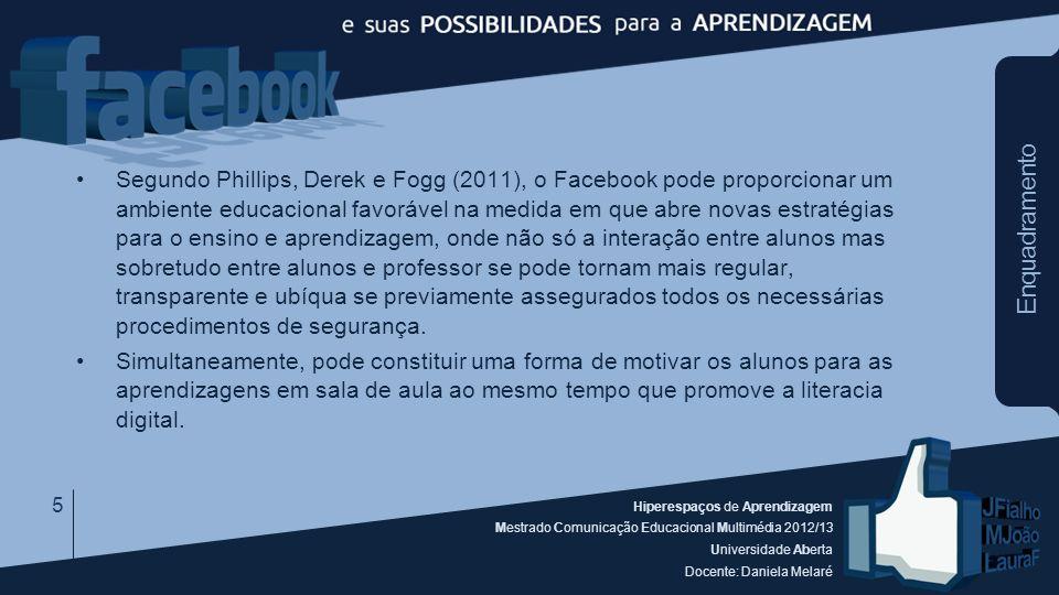 Hiperespaços de Aprendizagem Mestrado Comunicação Educacional Multimédia 2012/13 Universidade Aberta Docente: Daniela Melaré Enquadramento Segundo Phi