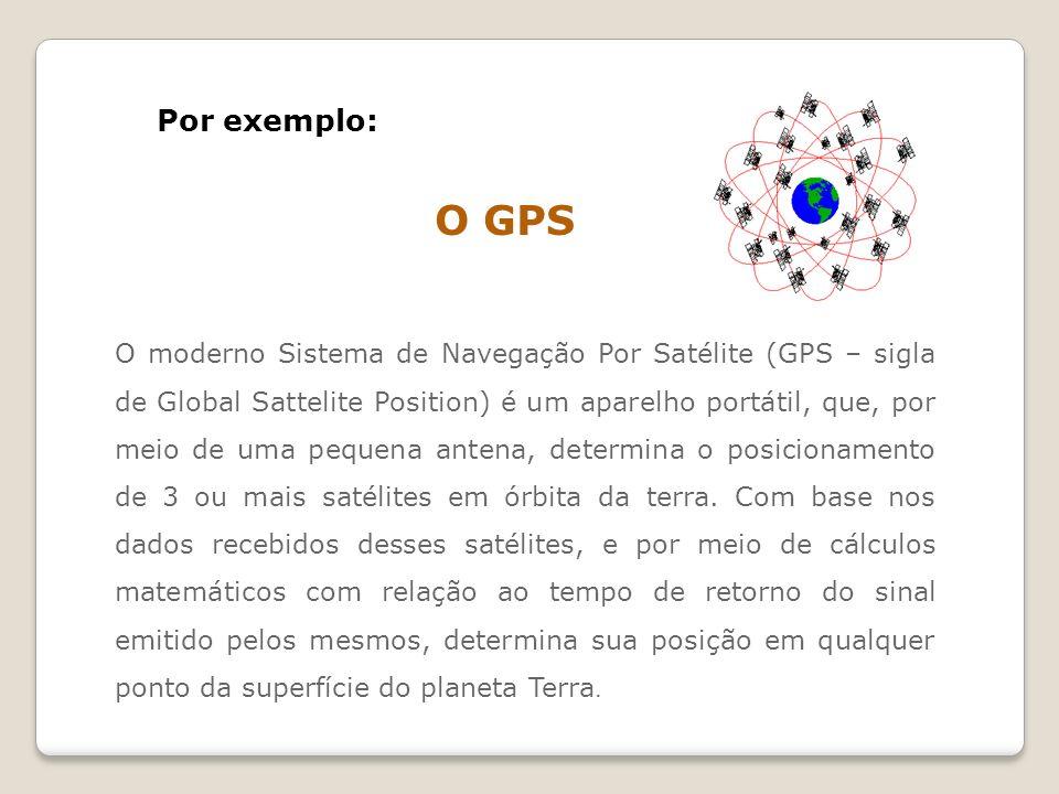 O moderno Sistema de Navegação Por Satélite (GPS – sigla de Global Sattelite Position) é um aparelho portátil, que, por meio de uma pequena antena, de