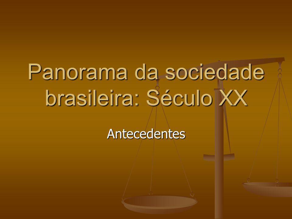 Panorama da sociedade brasileira: Século XX Antecedentes