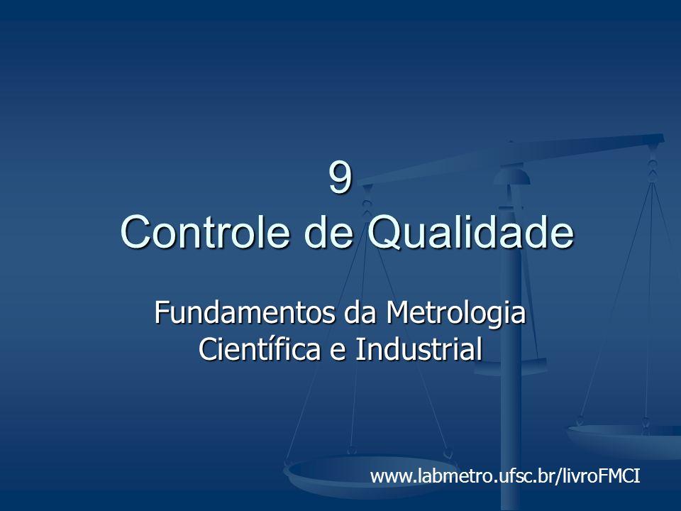 www.labmetro.ufsc.br/livroFMCI 9 Controle de Qualidade Fundamentos da Metrologia Científica e Industrial