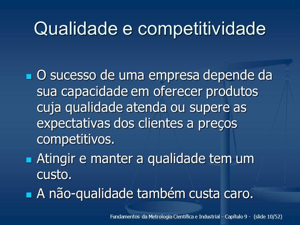 Fundamentos da Metrologia Científica e Industrial - Capítulo 9 - (slide 10/52) Qualidade e competitividade O sucesso de uma empresa depende da sua cap