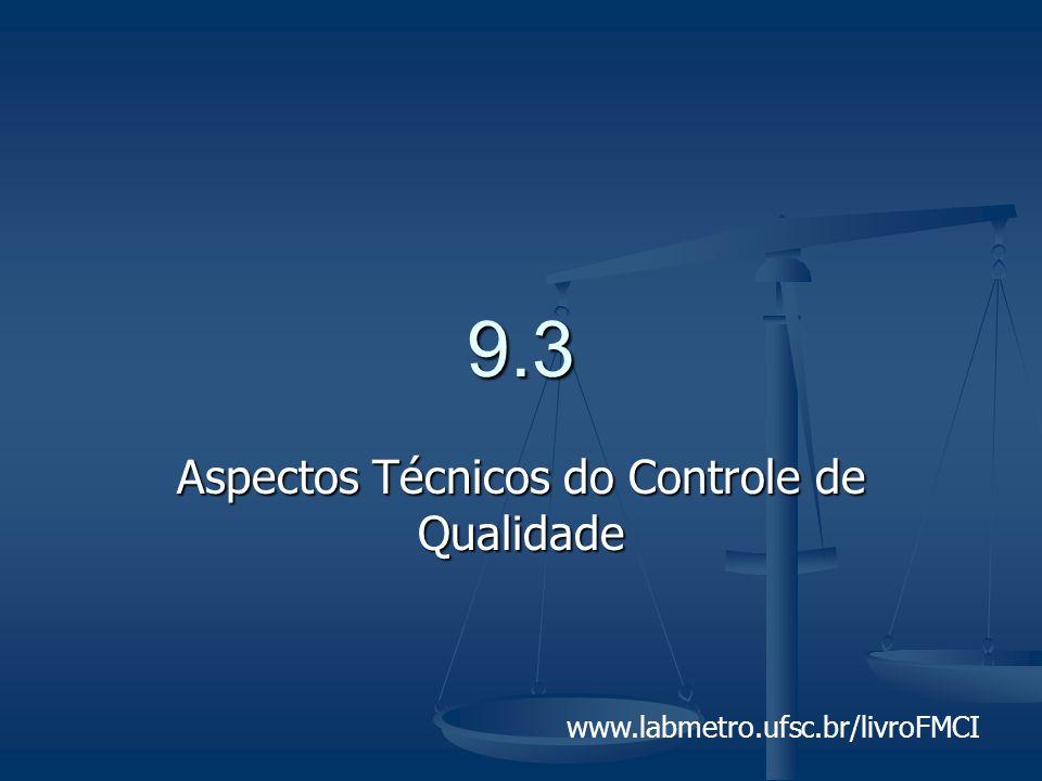 www.labmetro.ufsc.br/livroFMCI 9.3 Aspectos Técnicos do Controle de Qualidade