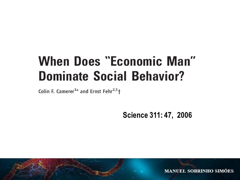 MANUEL SOBRINHO SIM Õ ES Science 311: 47, 2006