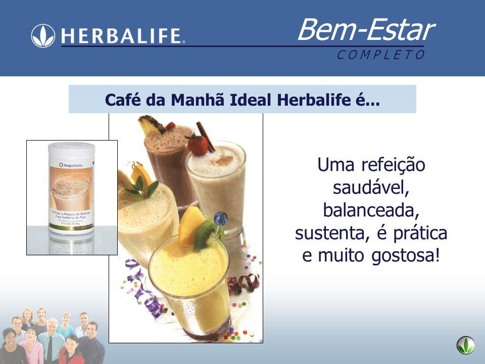 Bem-Estar C O M P L E T O Uma refeição saudável, balanceada, sustenta, é prática e muito gostosa! Café da Manhã Ideal Herbalife é...