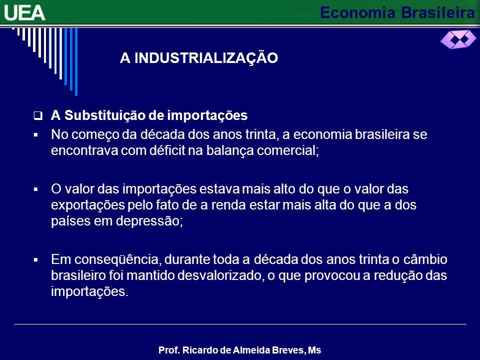 Economia Brasileira Prof. Ricardo de Almeida Breves, Ms A SUPERPRODUÇÃO DE CAFÉ Valorizando o café com desvalorizações cambiais: Até o final do século