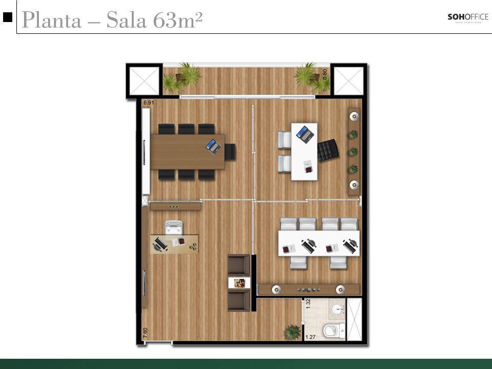 Planta – Sala 63m²